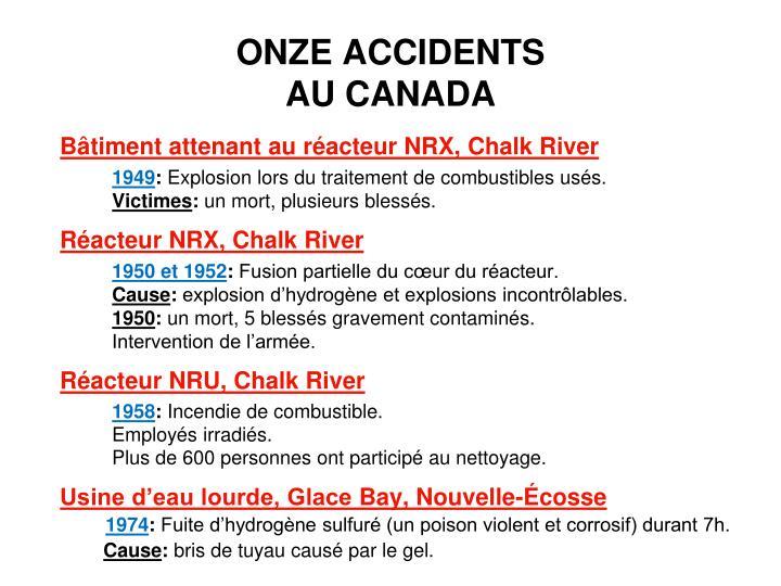 ONZE ACCIDENTS