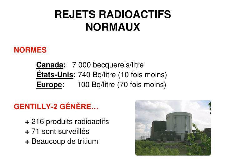 REJETS RADIOACTIFS