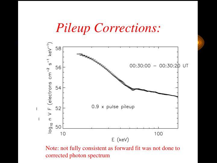Pileup Corrections:
