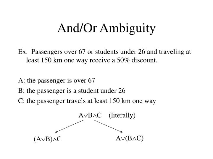 And/Or Ambiguity