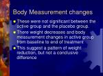 body measurement changes