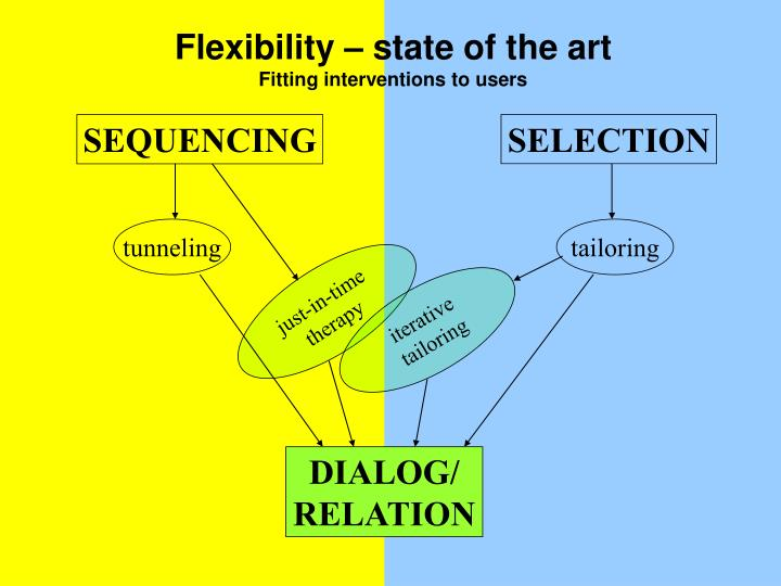 Flexibility – state of the art