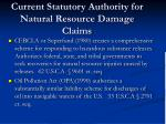 current statutory authority for natural resource damage claims