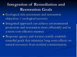 integration of remediation and restoration goals