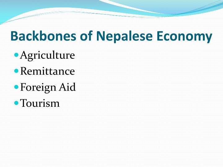 Backbones of Nepalese Economy