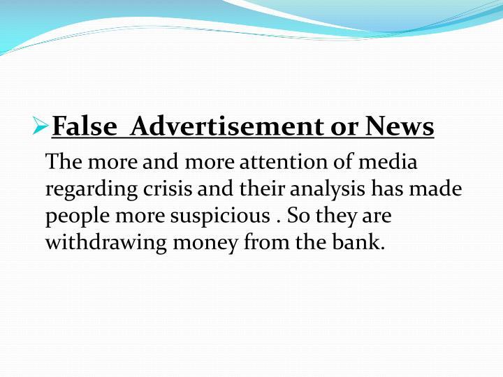 False  Advertisement or News