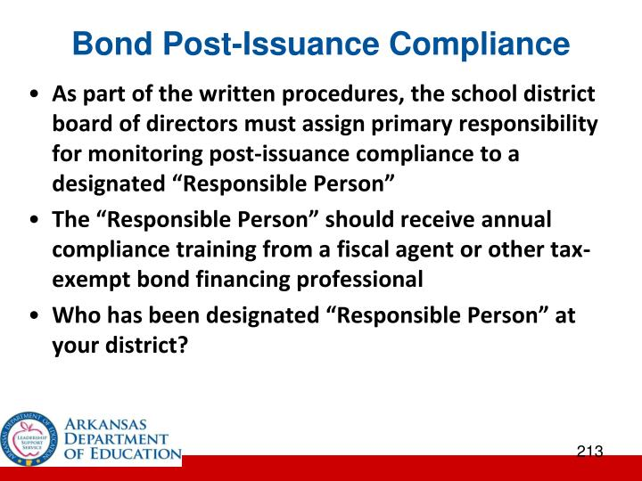 Bond Post-Issuance Compliance