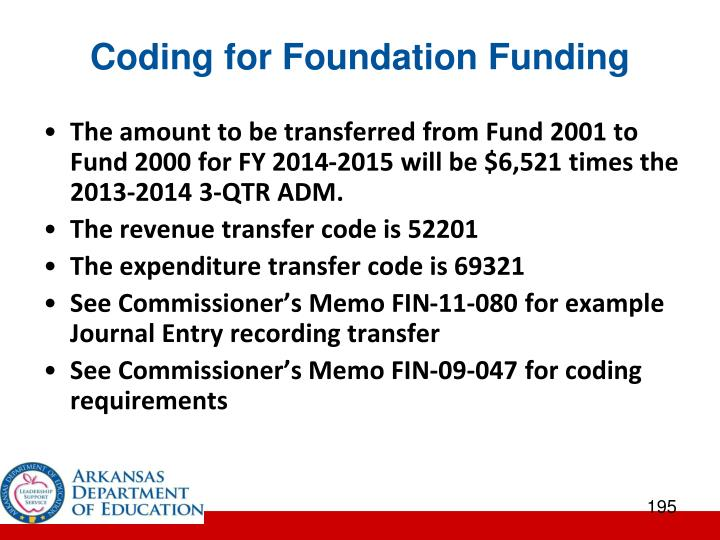 Coding for Foundation Funding