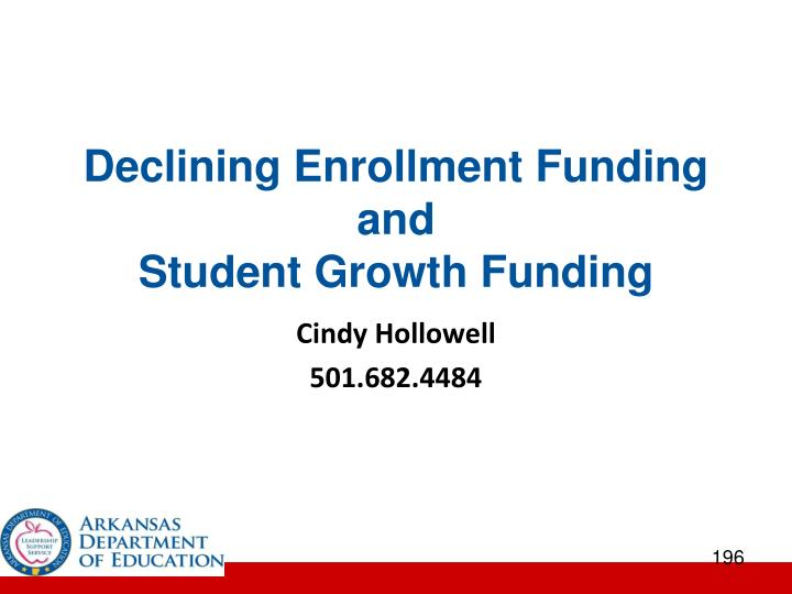 Declining Enrollment Funding and