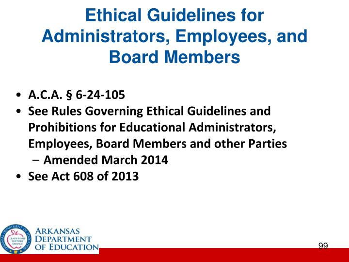Ethical Guidelines for Administrators, Employees, and Board Members