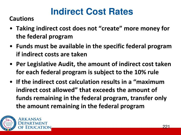 Indirect Cost Rates