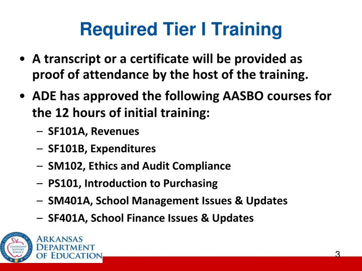 Required tier i training1