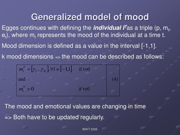 Generalized model of