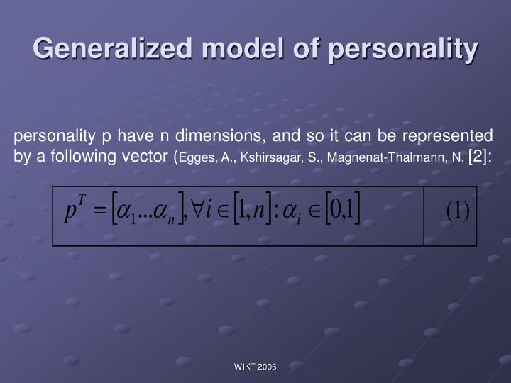 Generalized model of personality