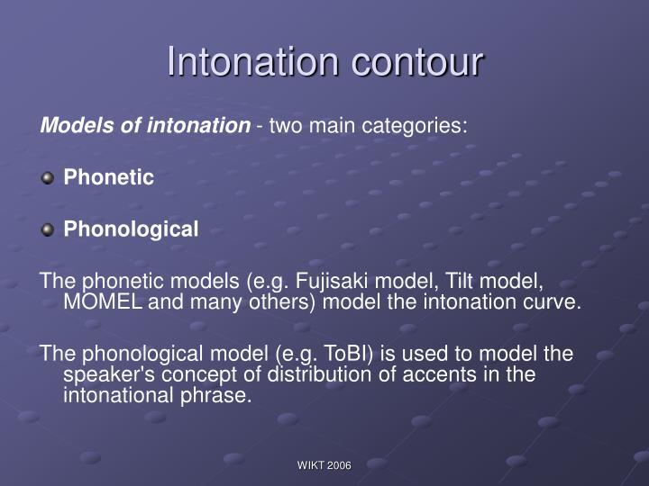 Intonation contour