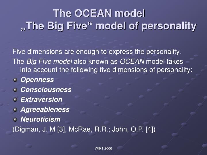 The OCEAN model