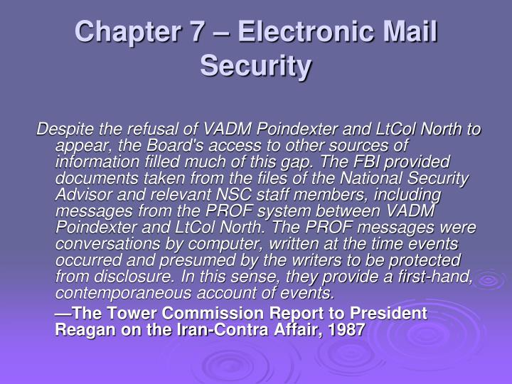 Chapter 7 electronic mail security