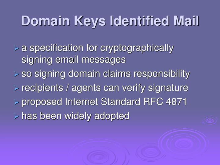 Domain Keys Identified Mail