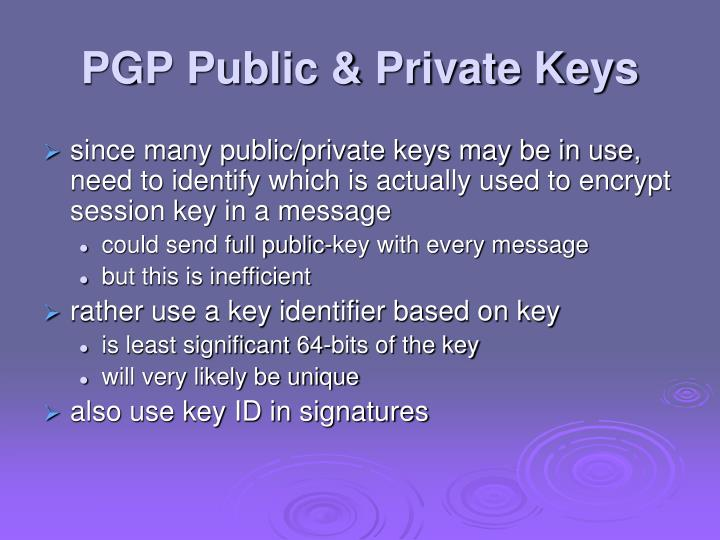 PGP Public & Private Keys