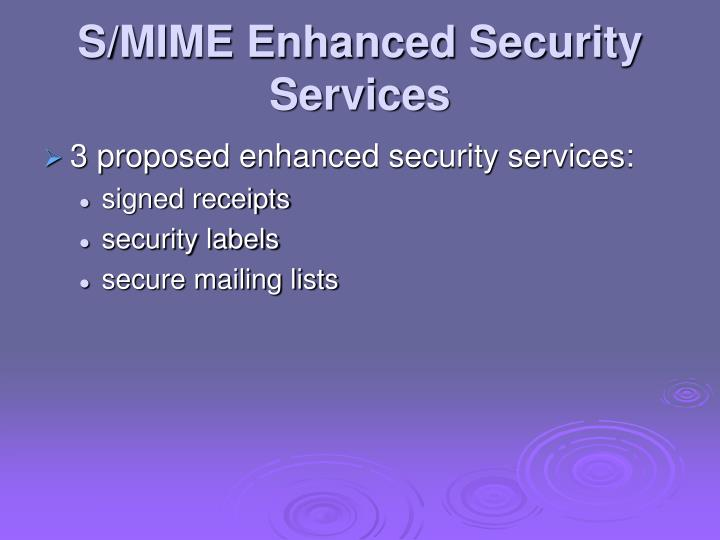 S/MIME Enhanced Security Services