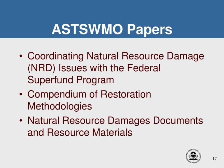 ASTSWMO Papers