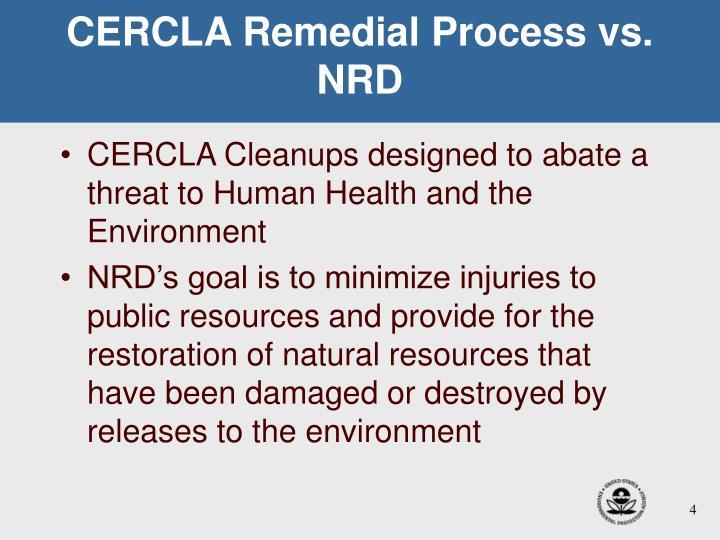 CERCLA Remedial Process vs. NRD