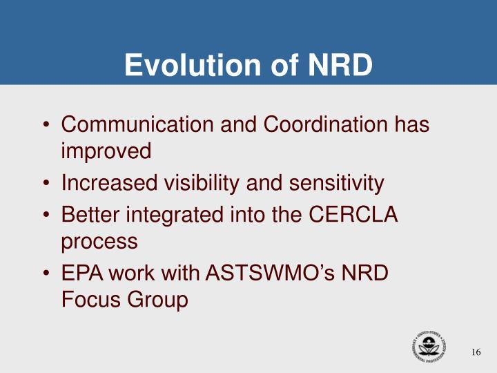 Evolution of NRD