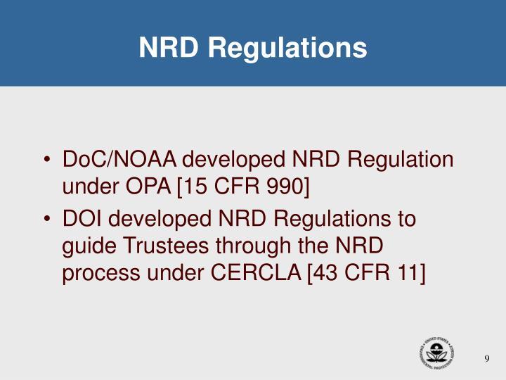 NRD Regulations