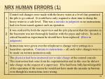 nrx human errors 1