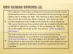 nrx human errors 2
