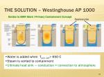 the solution westinghouse ap 1000