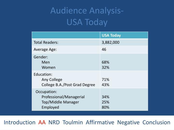 Audience Analysis-
