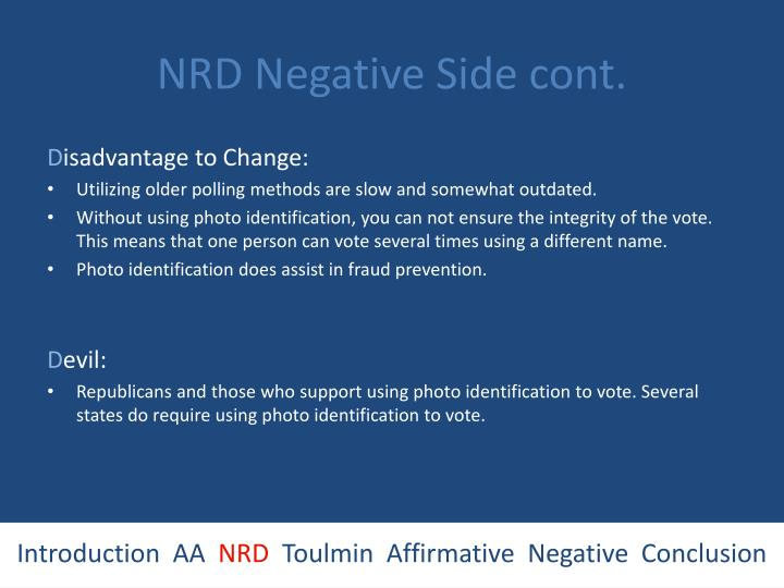 NRD Negative Side cont.
