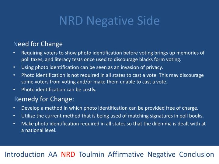 NRD Negative Side