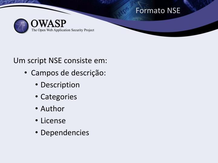 Formato NSE