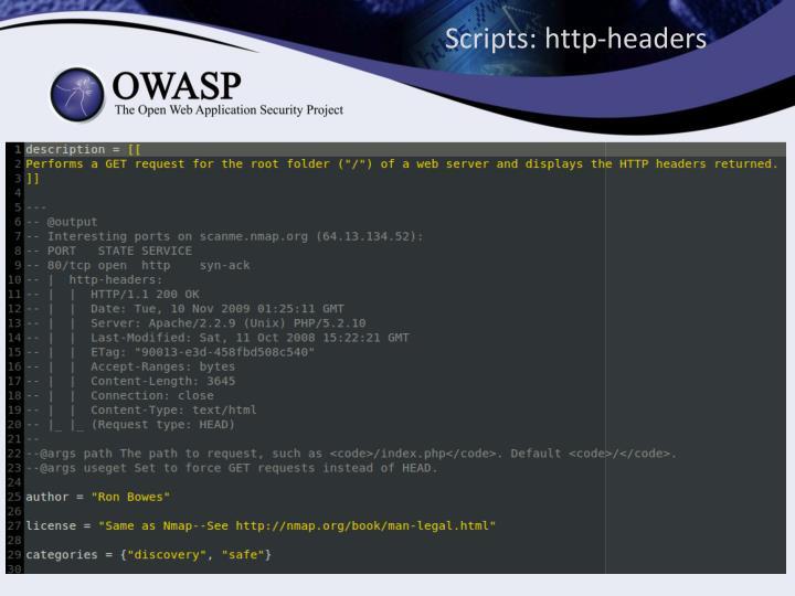 Scripts: http-headers