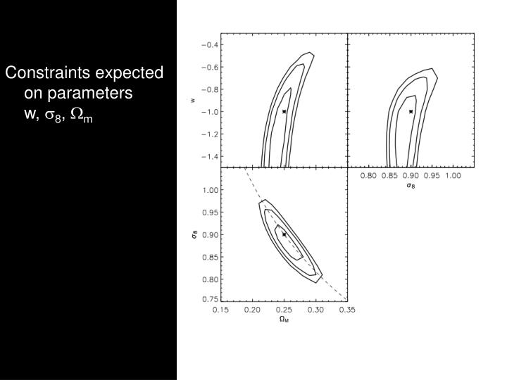 Constraints expected on parameters     w,