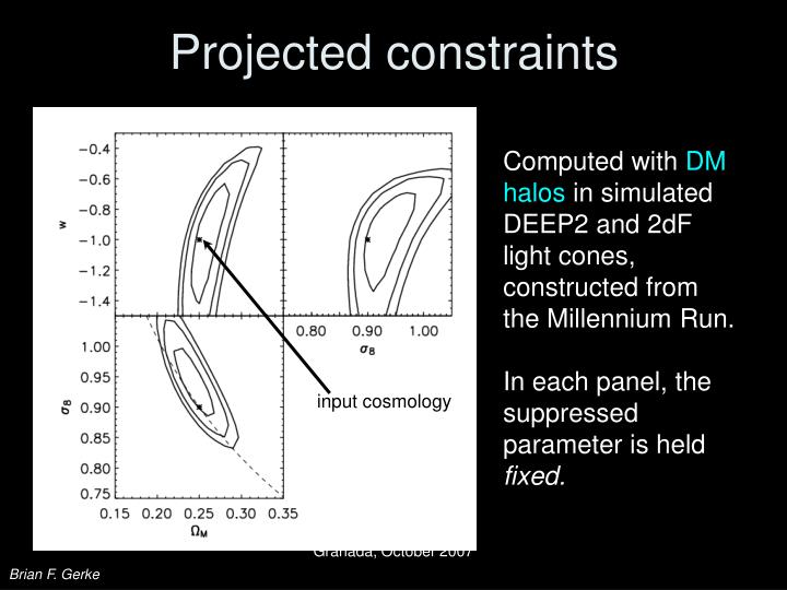 Projected constraints