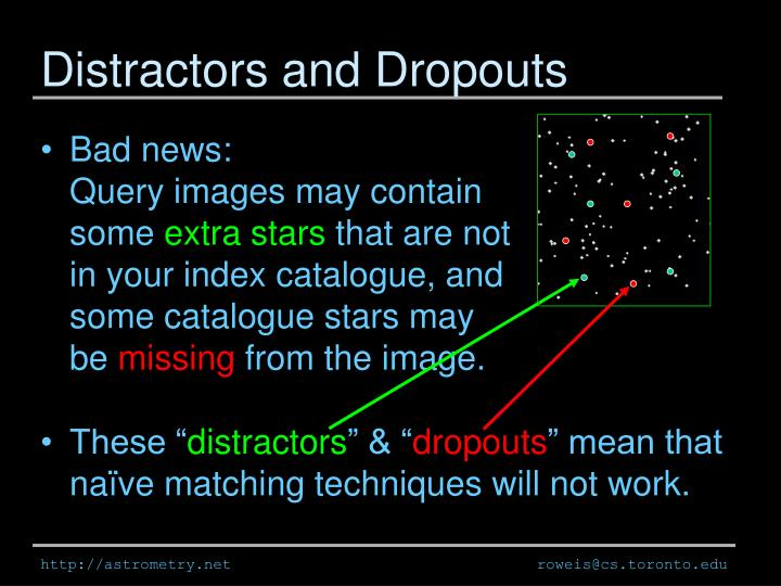 Distractors and Dropouts