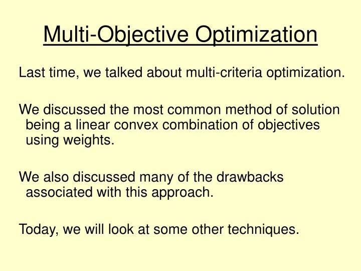 Multi objective optimization1
