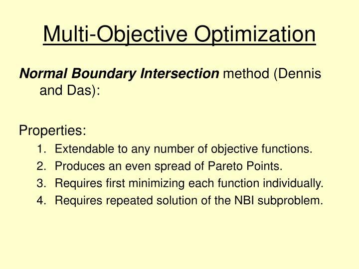 Multi-Objective Optimization
