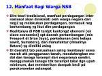 12 manfaat bagi warga nsb