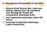 d keunggulan komparatif comp adv