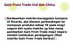 gain from trade ind dan china
