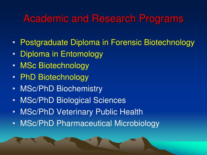 Academic and Research Programs