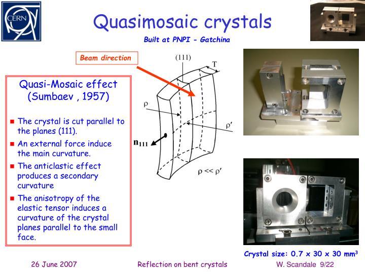 Quasimosaic crystals