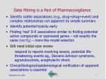data mining is a part of pharmacovigilance