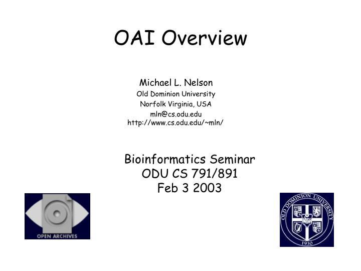 Oai overview