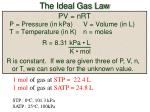 the ideal gas law1