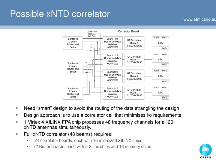 Possible xNTD correlator